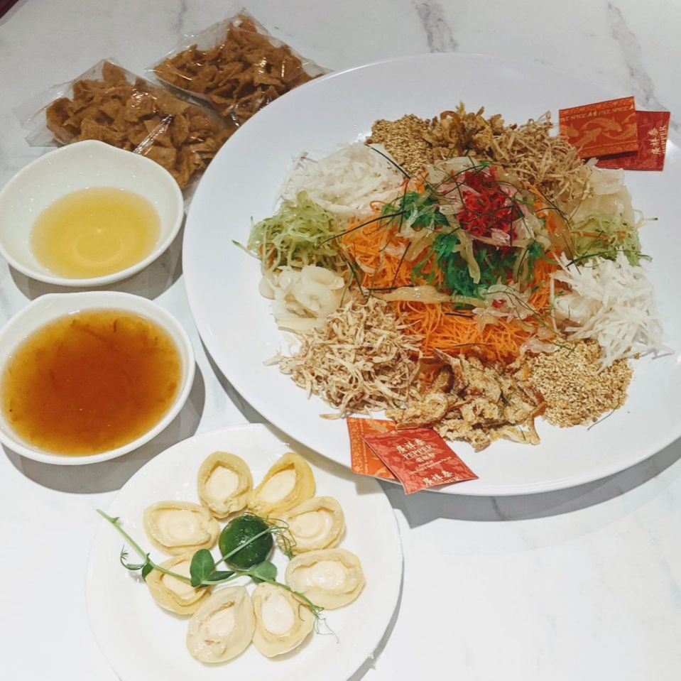 yusheng delivery - white restaurant